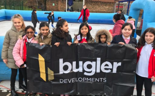 BUGLER SPONSORS ICE RINK AS XMAS TREAT FOR LOCAL SCHOOL