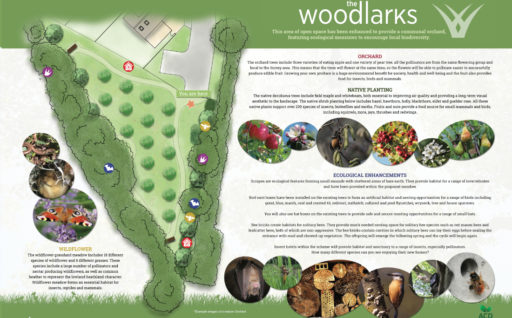 The Woodlarks will feature an Orchard.